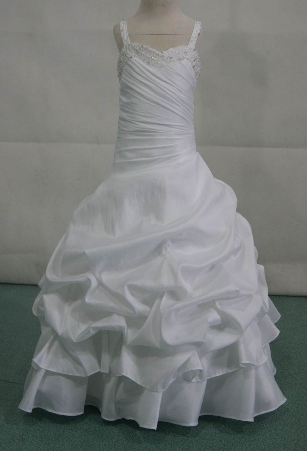 white gown with silver beading