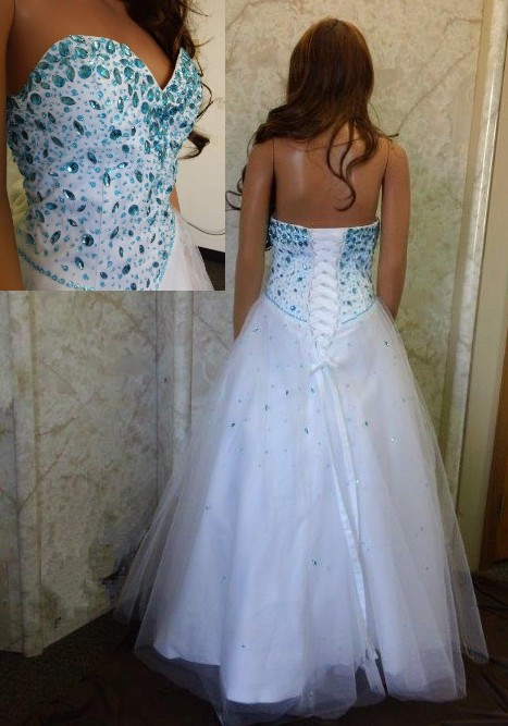 Sweetheart fully beaded prom dress