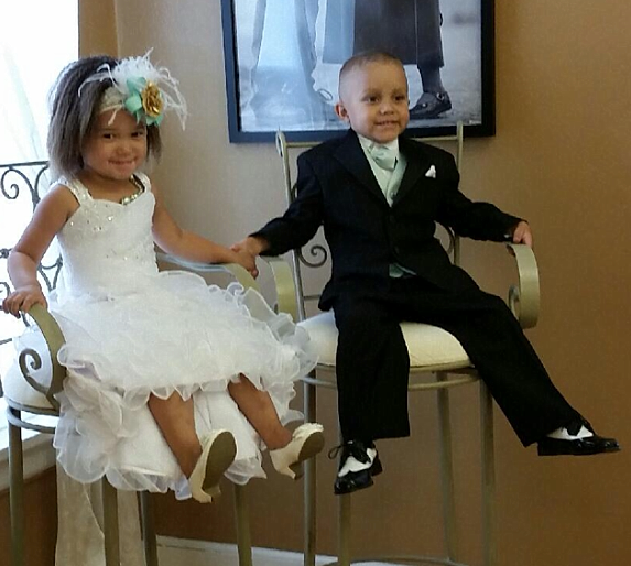flower girl dress with match the brides