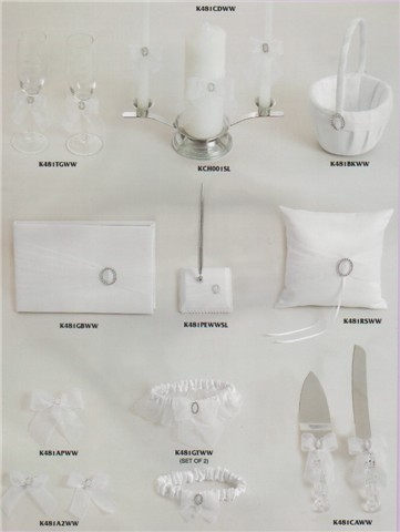 White Wedding accessories