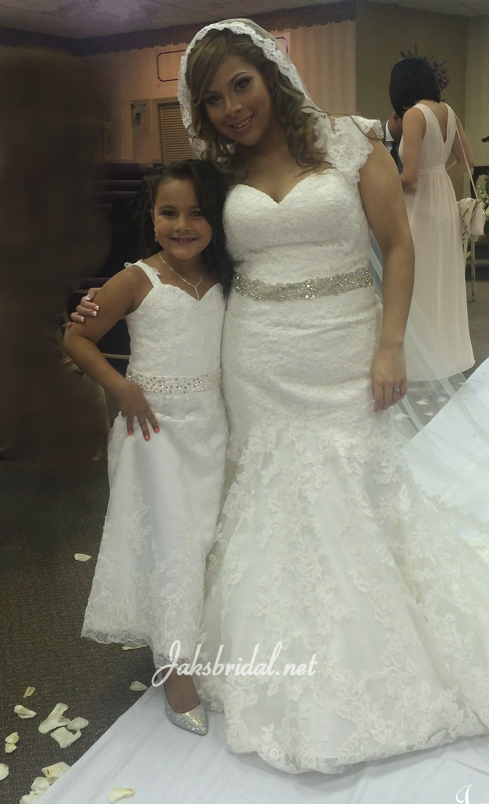 Matching Flower Girl Dresses to Bridal Gowns