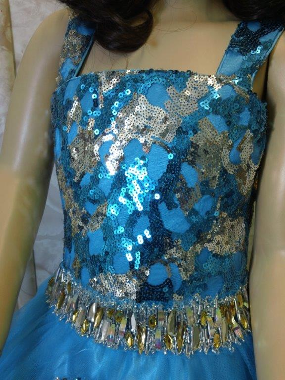 Girls turquoise pageant dresses