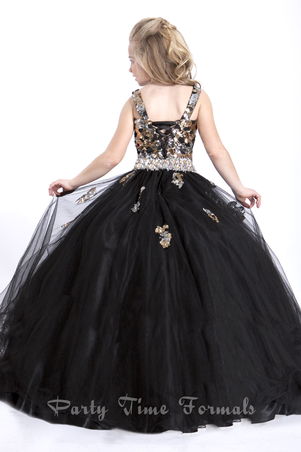 Black and Gold junior national pageant dresses