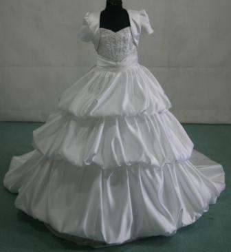 bubble layered miniature bridal gown with jacket