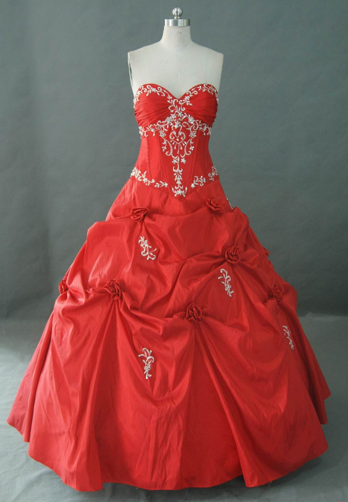mexican quinceanera dress red white