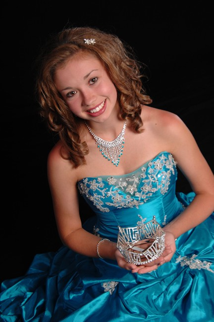 Pageant gown ball gown worn by Miss SD Junior National Teenager