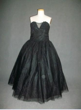 black pageant dress