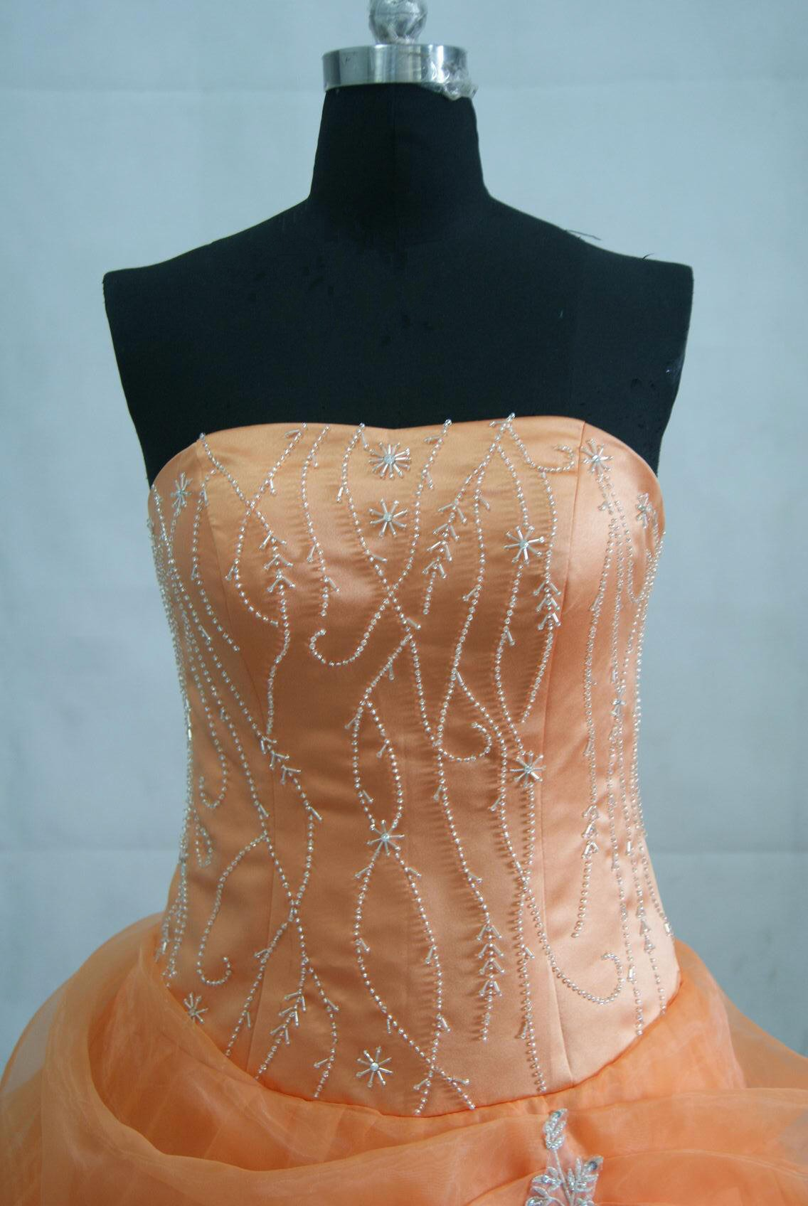 pumpkin spice prom gown
