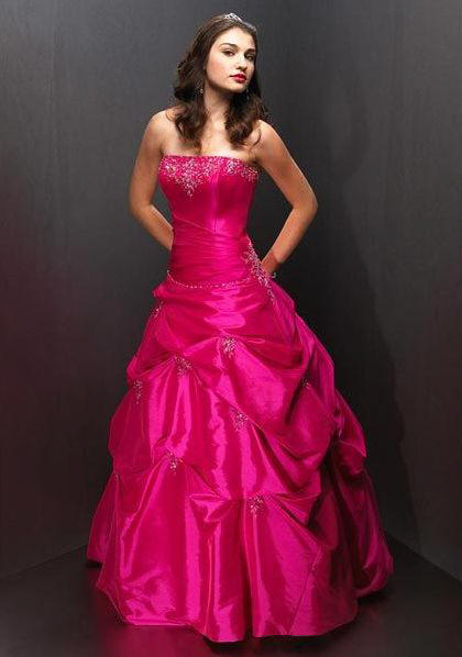 fuchsia quinceanera gown