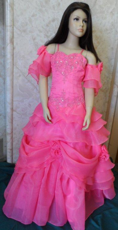 Coral Organza pageant dress