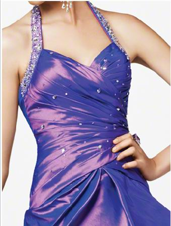 rhinestone halter dress