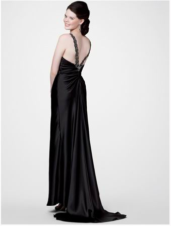 silhouette prom dress