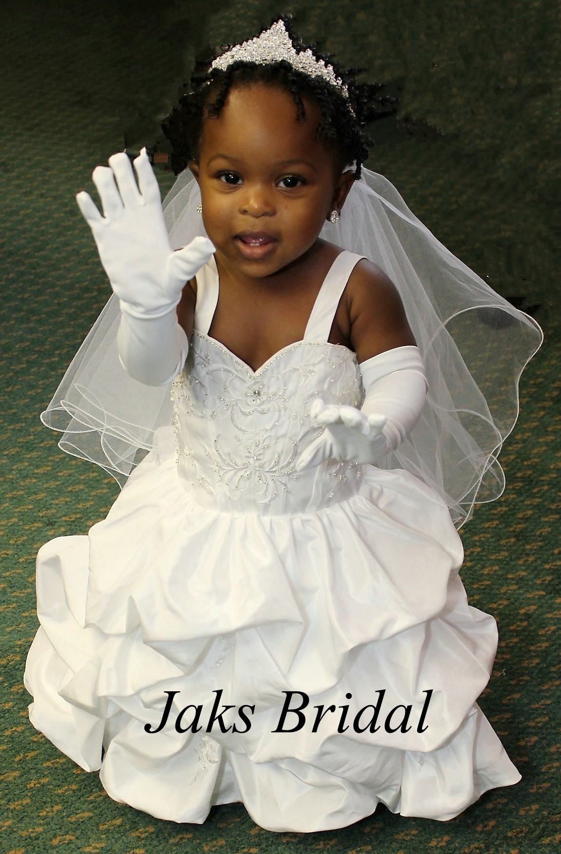 miniature baby wedding gown