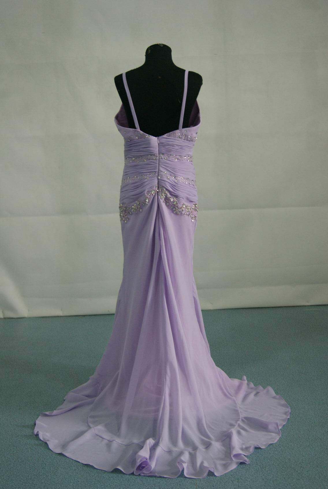 Orchid evening gown