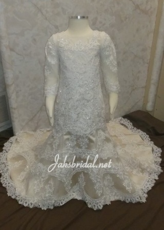 infant wedding gown