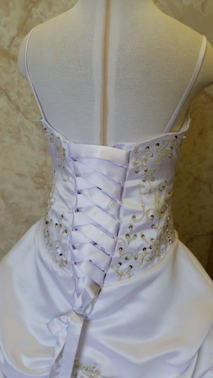 gown with corset closure