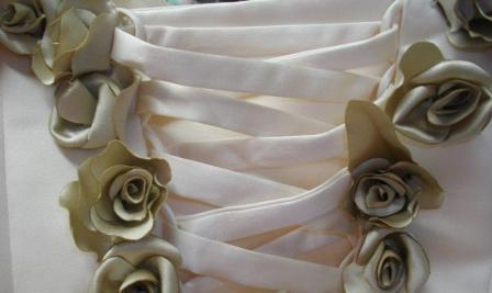 Corset trimmed with roses