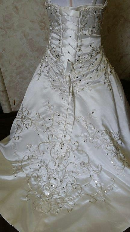 toddler wedding gown with train