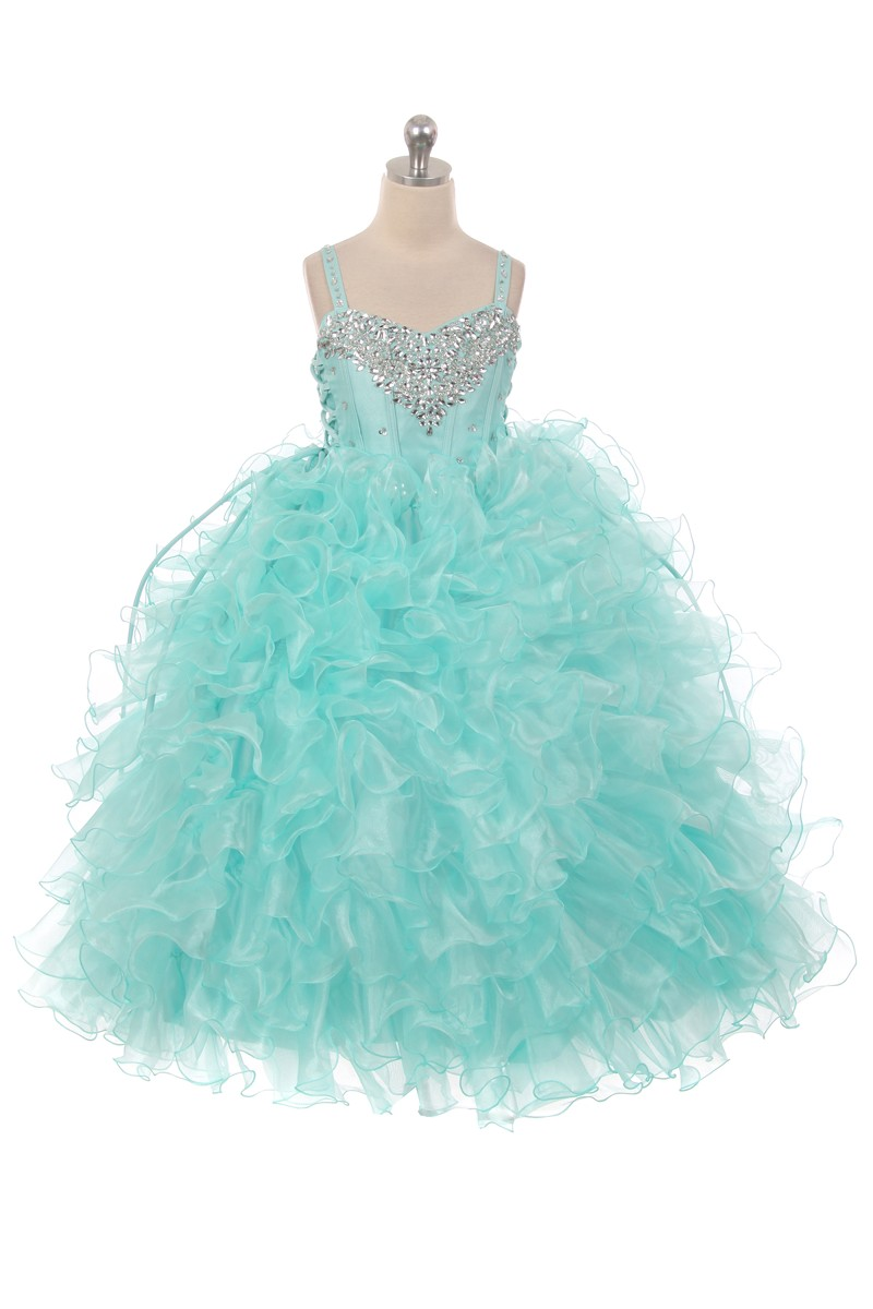 ruffle skirt ball gown dresses