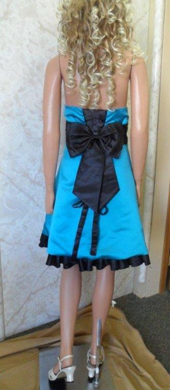 turquoise and black bridesmaid dress