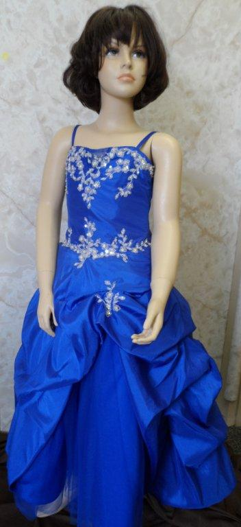 Royal blue children pageant gown