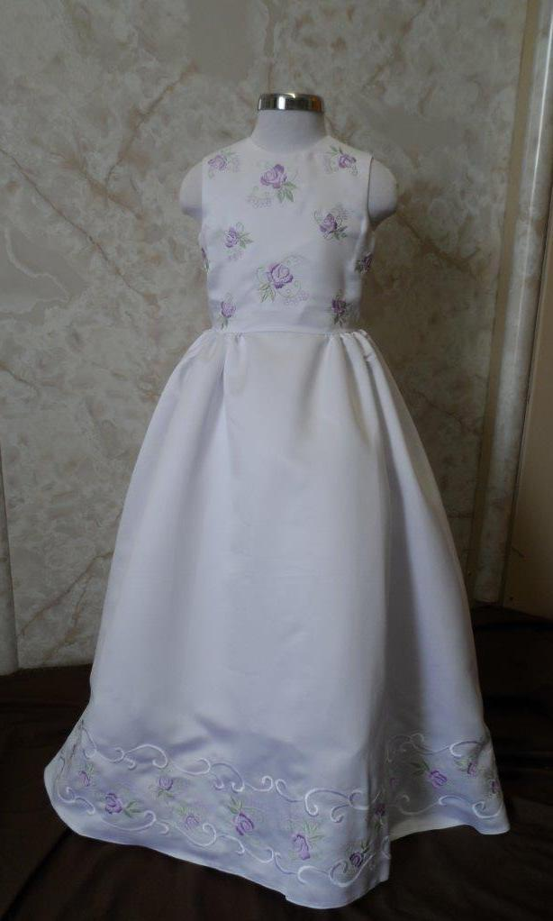 white lavender and sage flower girl dresses