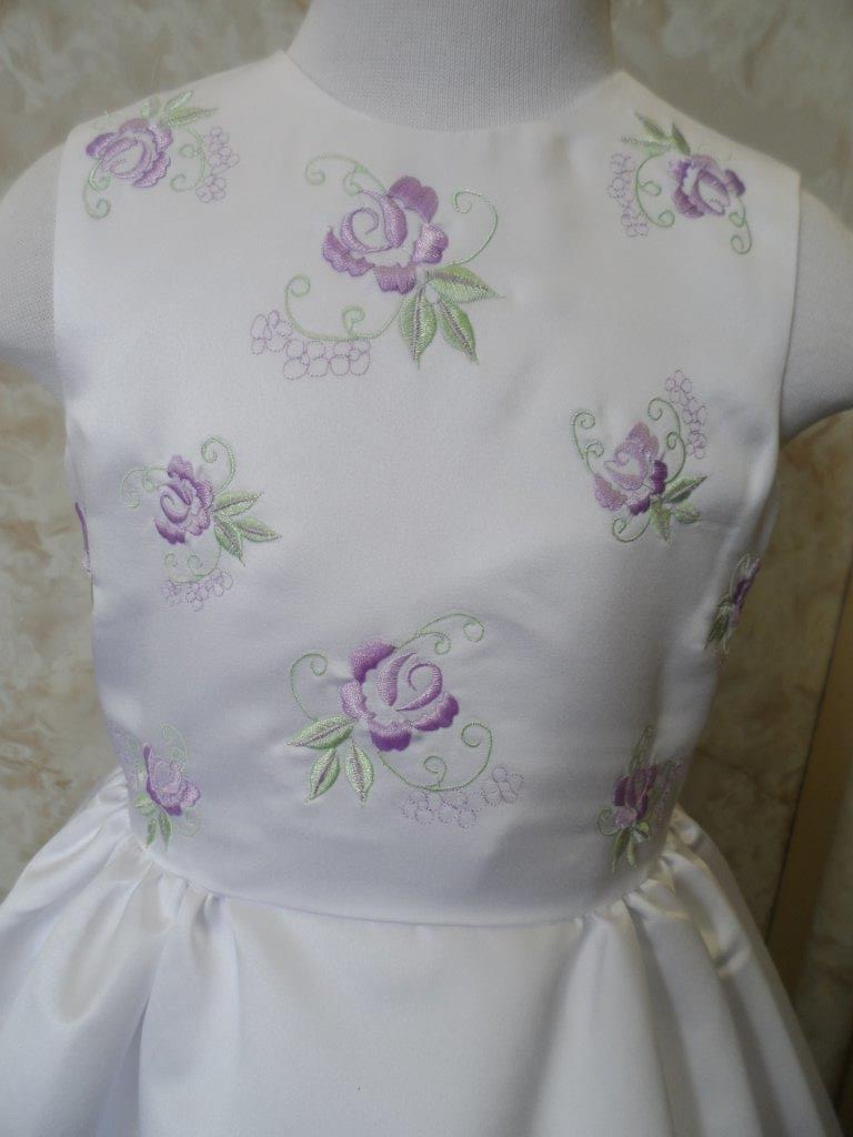 Lavender and Sage Flower girl dresses