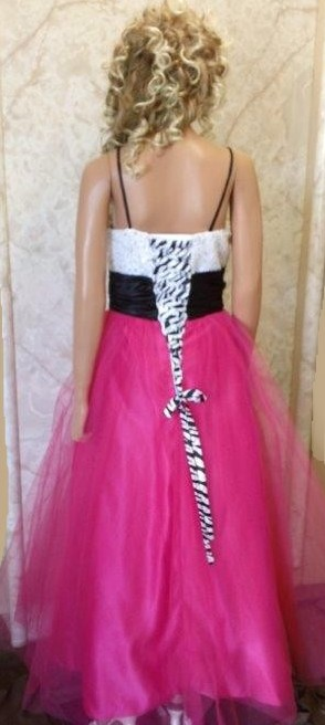 Fuschia Zebra Prom dress