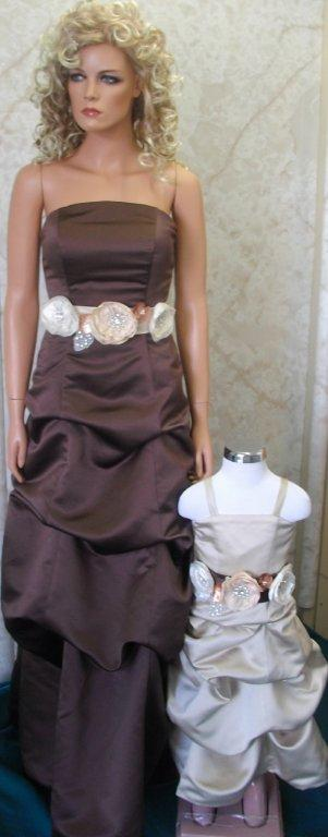 chocolate and ivory bridesmaid dresses
