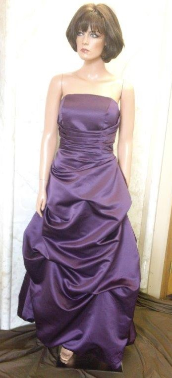 grape bridesmaid dresses