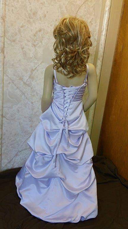 orchid flower girl dresses