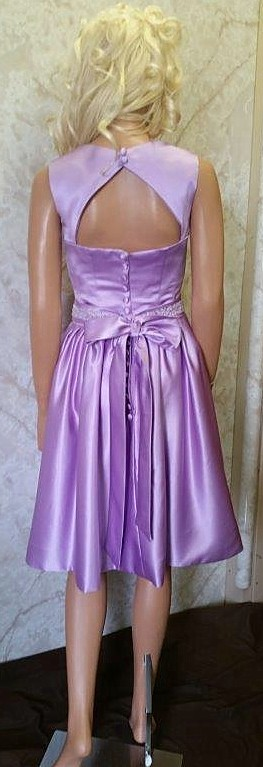 orchid bridesmaid dress