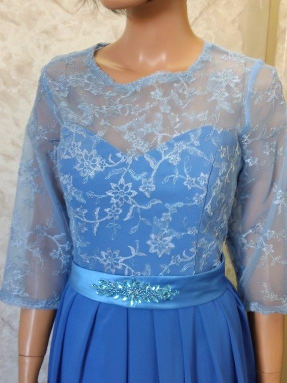Sleeves Covered with Sheer Lace