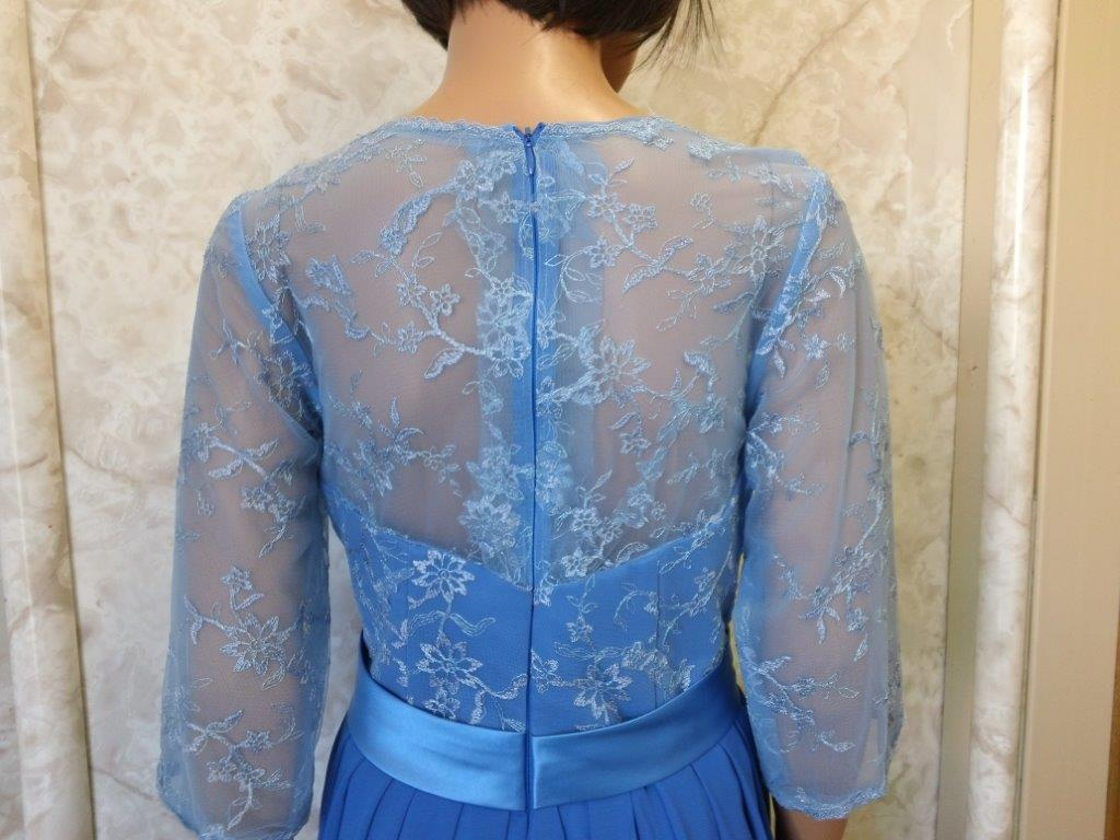 sheer lace back and sleeves