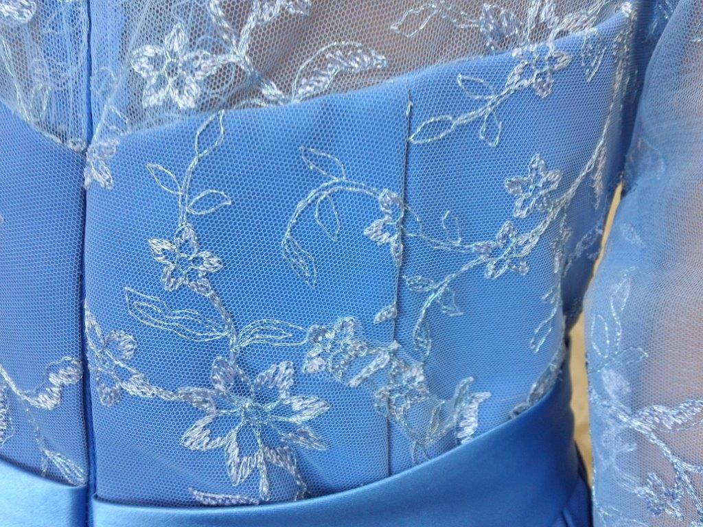 blue lace mothers dress