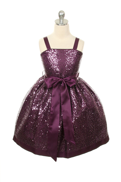 Girls sequin pageant dresses purple