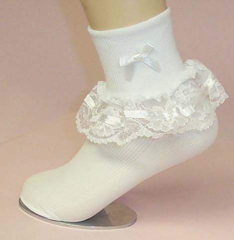 socks or hose flower girl to wedding