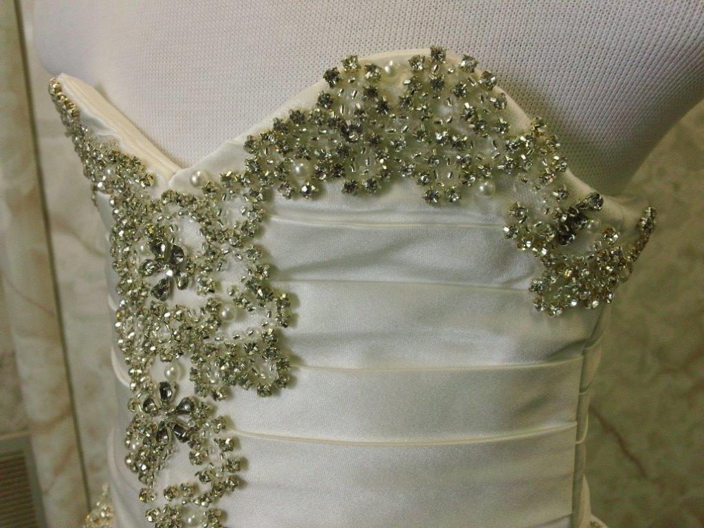 tiny toddler flower girl dress with crystals
