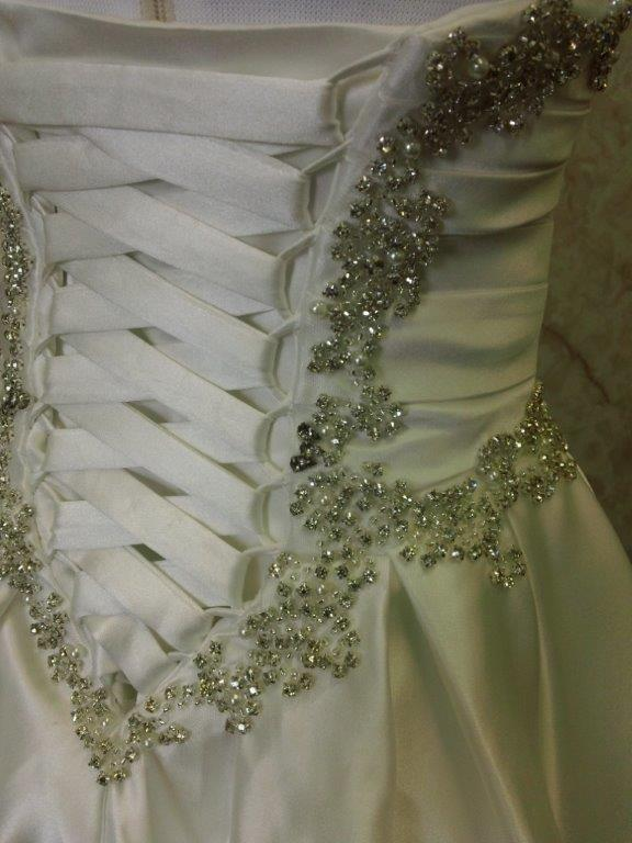 tiny flower girl dress with crystals
