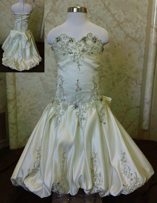 size 2 mini wedding gown