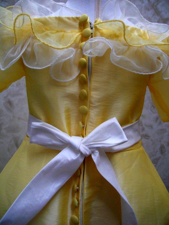 ruffled neckline for toddler pageant dress