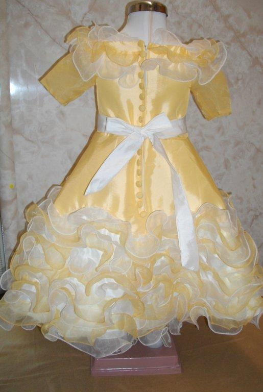 yellow pageant dress toddler