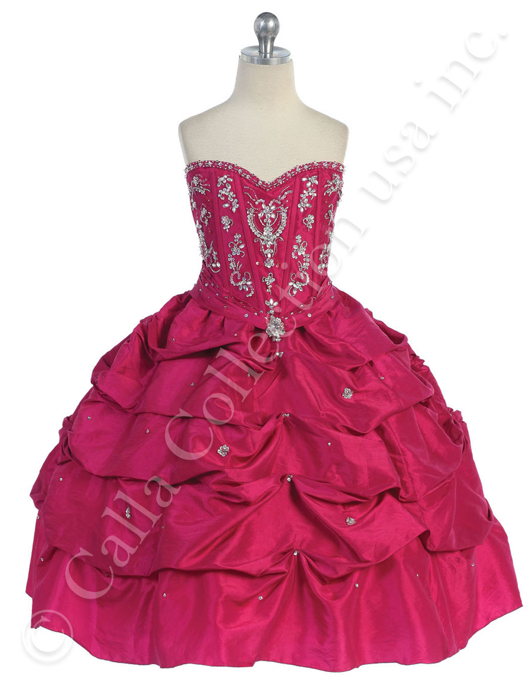 fuchsia prom and beauty pageant dresses for pre teens