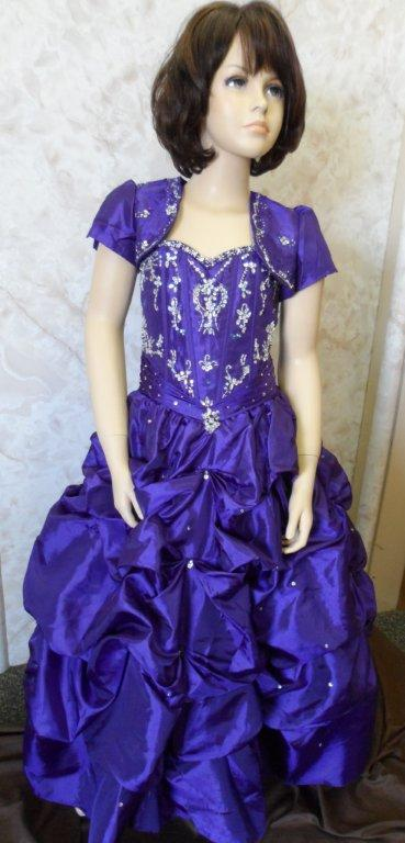 purple national pageant dresses