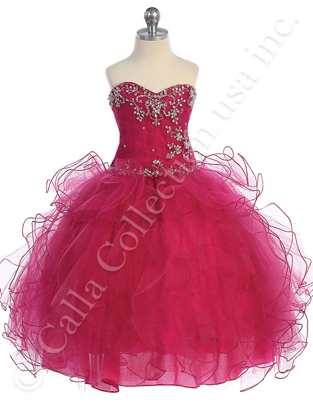 fuchsia pageant dresses for juniors