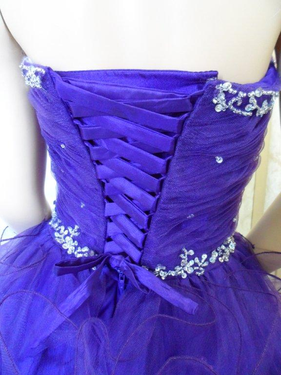 child size purple pageant dress with corset lace up back