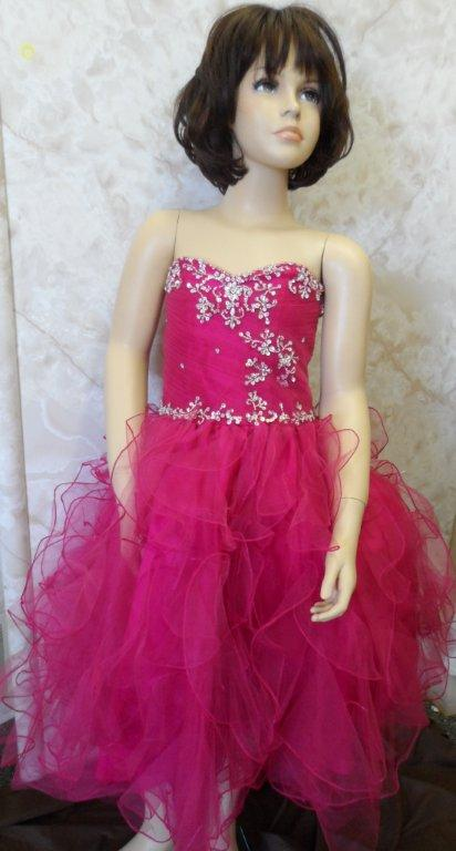 child size fuchsia pageant gowns for girls