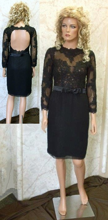 black lace mothers dress