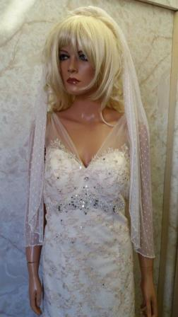 polka dot tulle wedding veil
