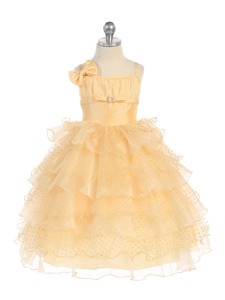 marigold ruffle dress